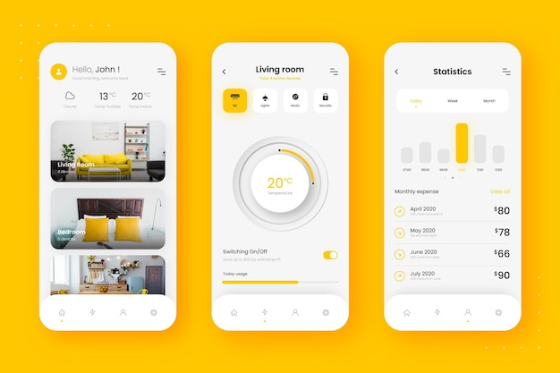 Smart home-app-sjabloon
