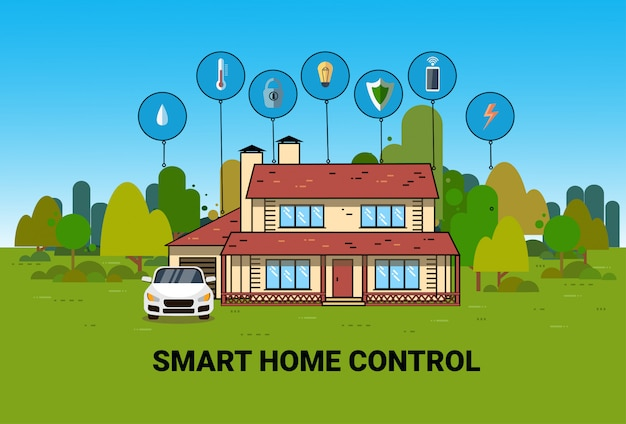 Smart home control system automatisering modern house technology system