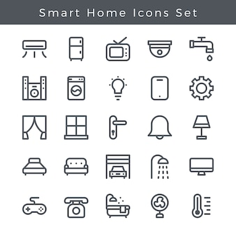 Smart home icons set app