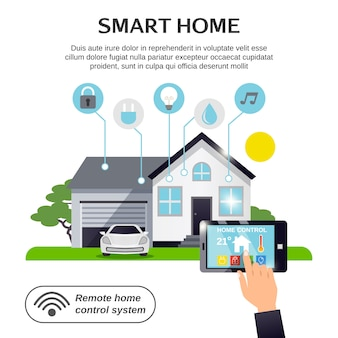 Smart home illustratie
