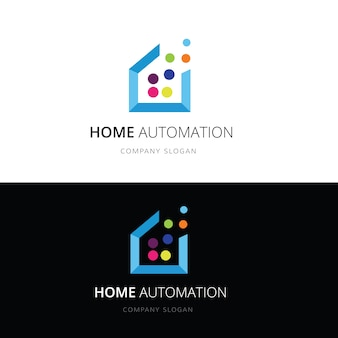 Smart home logo.home en huis technologie logo vector logo sjabloon.