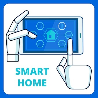 Smart home management app-sjabloon