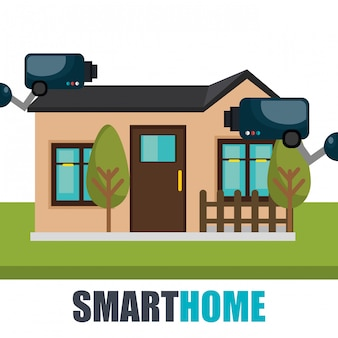 Smart home-technologie met cctv-camera