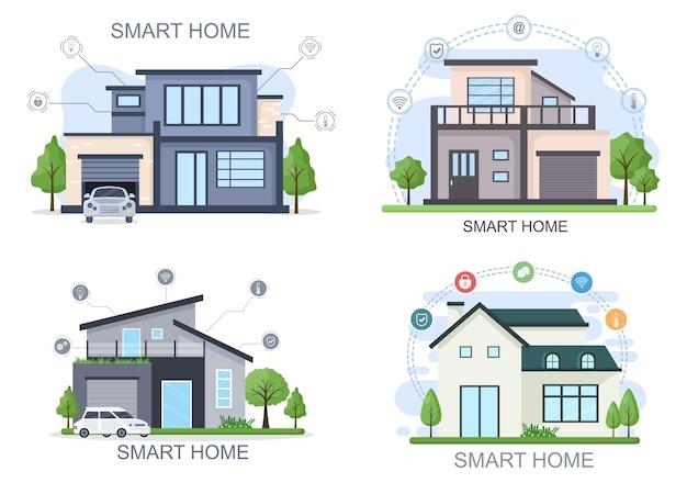 Smart home technologie vector