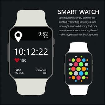 Smart horloge met fitness aanvraag voor de gezondheid