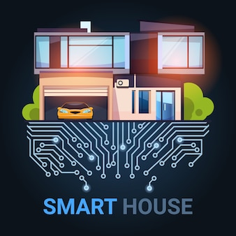 Smart house control technology system