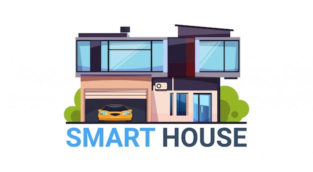 Smart house systeemautomatisering en besturingstechnologie modern huispictogram geïsoleerd