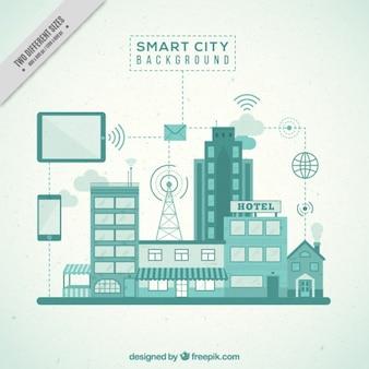 Smart stad achtergrond