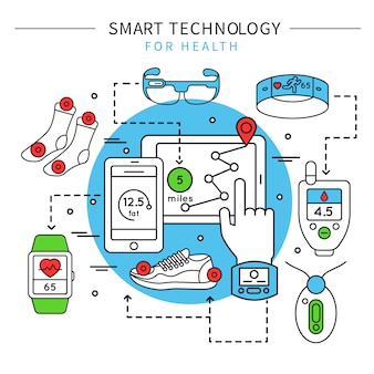 Smart technology line composition