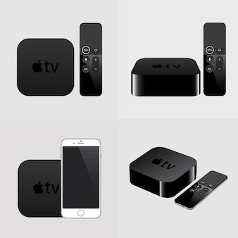 Smart tv met afstandsbediening en smartphone
