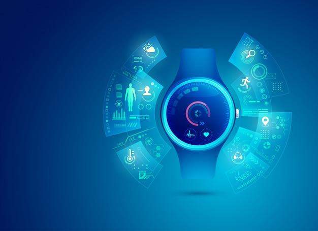 Smart watch-applicatie-interface