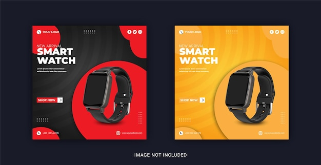 Smart watch-collectie social media post instagram-bannersjabloon