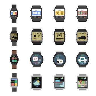 Smart watch icon flat