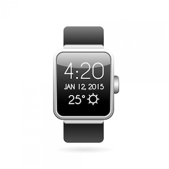 Smart watch-illustratie.