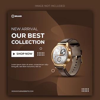Smart watch sale instagram-bericht of bannersjabloon premium vector
