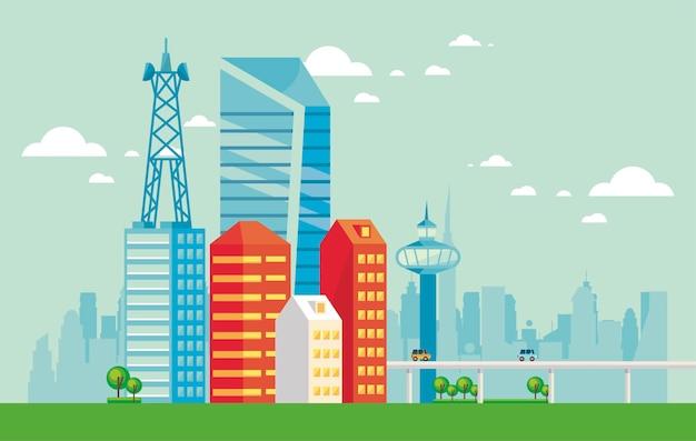 Smartcity stedelijke scène