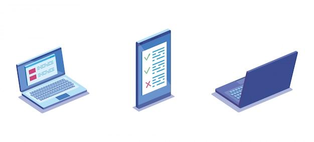 Smartphone-apparaat met elektronische apparatuur