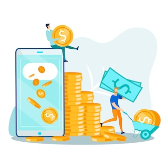 Smartphone digital technologies en money transfer