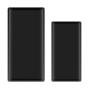 Smartphone-illustratie isoalted op witte achtergrond