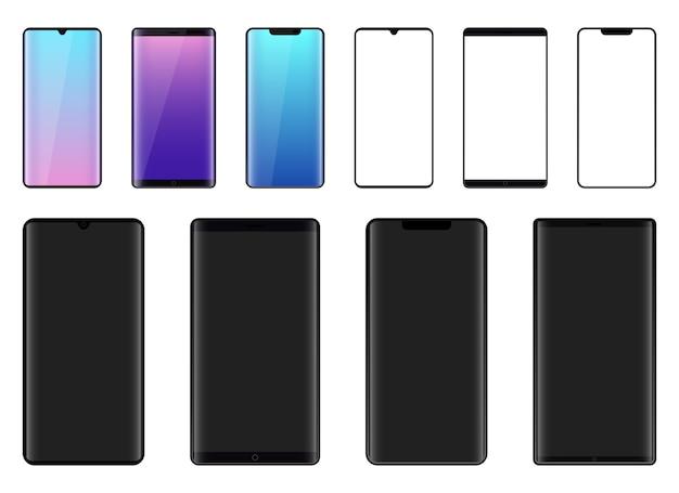 Smartphone isoalted op witte achtergrond