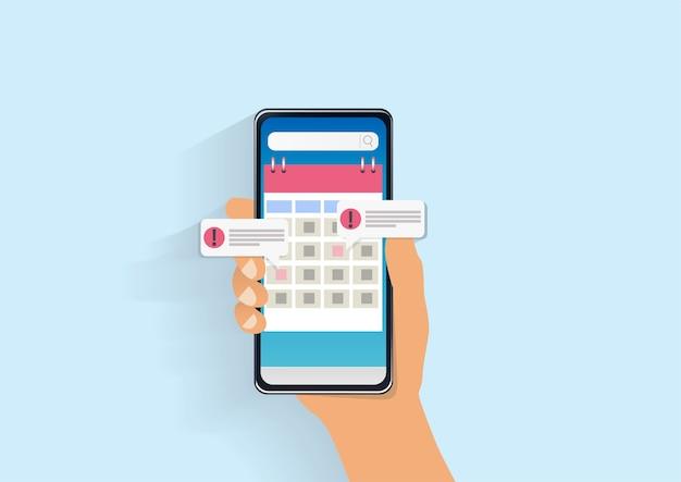 Smartphone kalender illustratie