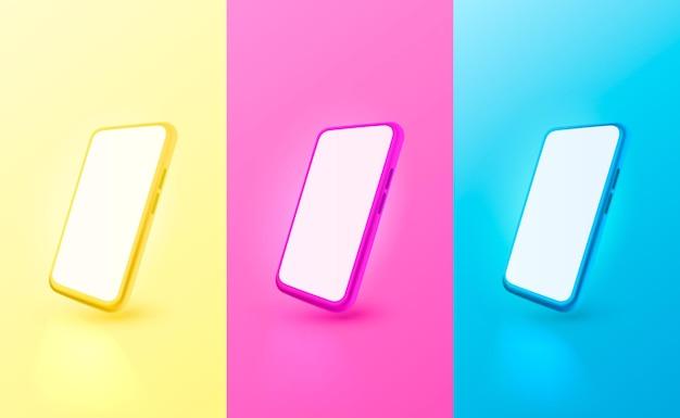 Smartphone kleur mobiel scherm technologie mobiel display licht vector