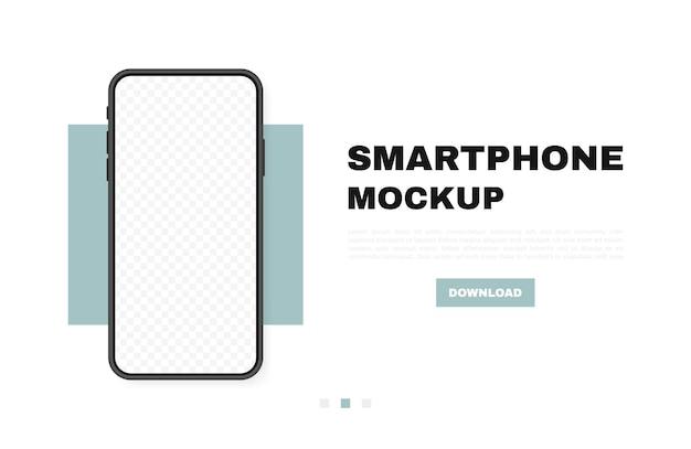 Smartphone leeg scherm, telefoon. nieuw telefoonmodel. sjabloon