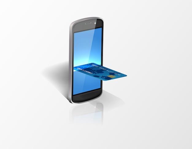 Smartphone met creditcard