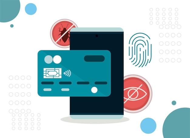 Smartphone met cyberbeveiliging