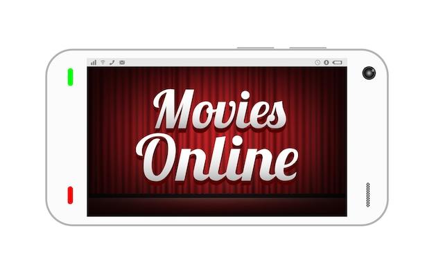 Smartphone met films online op het scherm