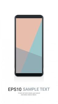 Smartphone met gekleurd scherm realistische mockupgadgets en apparatenconcept