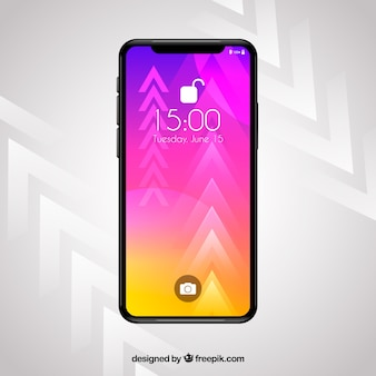 Smartphone met gradiëntbehang