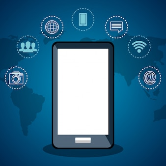 Smartphone met internetcommunicatie