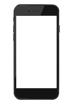 Smartphone met leeg scherm geïsoleerd op wit