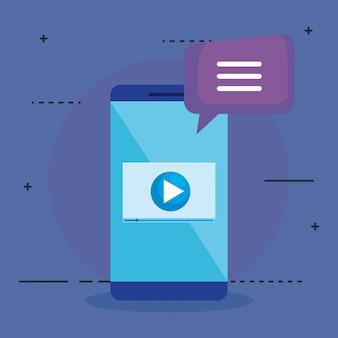Smartphone met seo-pictogrammen