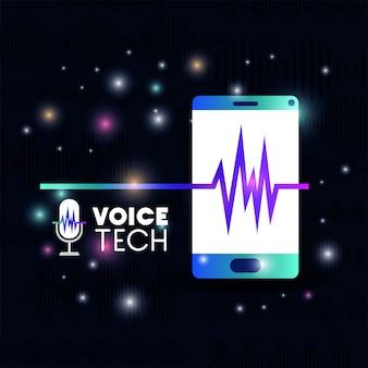 Smartphone met technologie voor spraakherkenning
