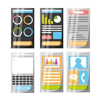 Smartphone met verschillende elektronische hulpmiddelen