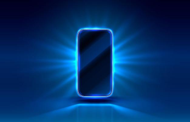 Smartphone mobiel scherm, technologie mobiel displaylicht.