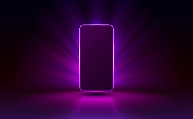 Smartphone mobiele schermtechnologie mobiele display lichte vector