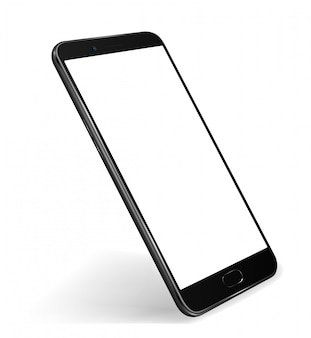 Smartphone mockup transparant scherm voor eenvoudige demodemo