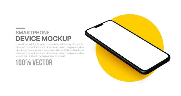 Smartphone-mockup voor app-ontwikkeling en ontwerp geïsoleerde mobiele telefoon voor presentatiesjabloon