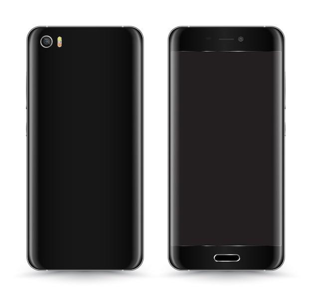 Smartphone mockup voor- en achterkant.