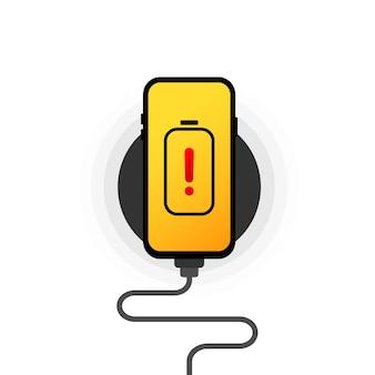 Smartphone op draadloos opladen
