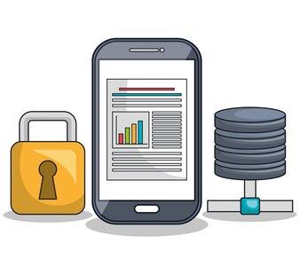 Smartphone pictogram digitale technologie geïsoleerd