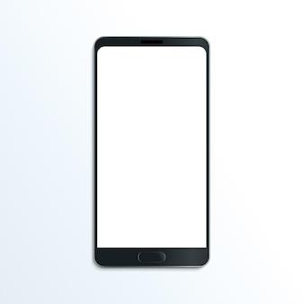 Smartphone realistische vector mockup mobiele communicatie illustratie