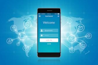 Smartphone sociaal netwerk