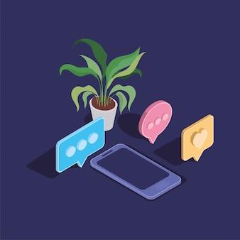 Smartphone technologie apparaat geïsoleerde pictogram Premium Vector