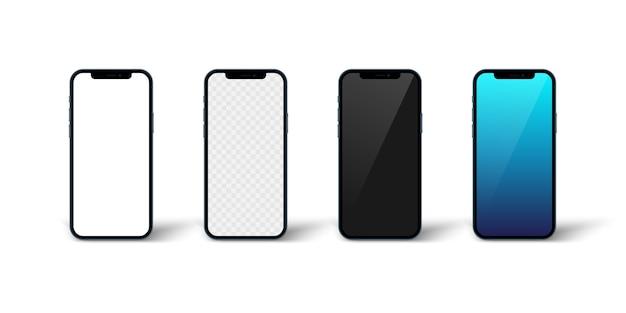 Smartphone-toepassingsscherm geïsoleerd op witte baclground