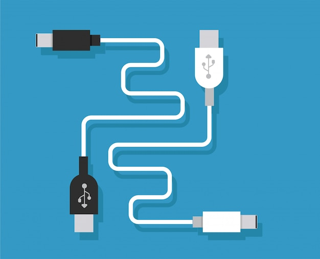 Smartphone usb-opladeradapter met usb-microkabel (aansluiting en connector voor pc en mobiele apparaten)