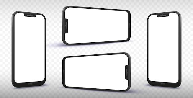 Smartphone vanuit verschillende hoeken en perspectieven
